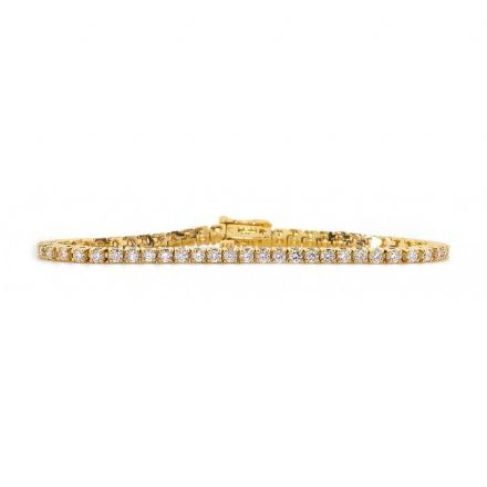 18K Gold 3.00ct Diamond Bracelet, DBR01-3PKY